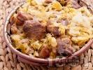 Рецепта Печено свинско месо с кисело зеле в тава на фурна